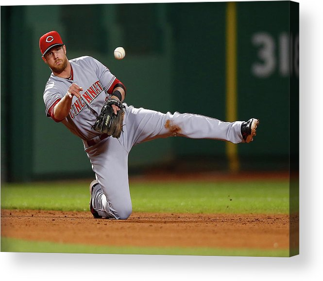 American League Baseball Acrylic Print featuring the photograph Zack Cozart by Jared Wickerham