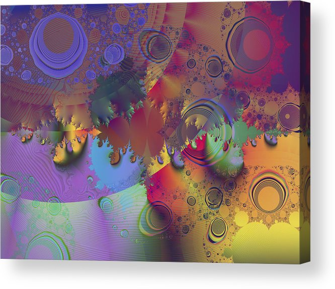 Fractal Acrylic Print featuring the digital art Ink's Spots by Elisa Locci