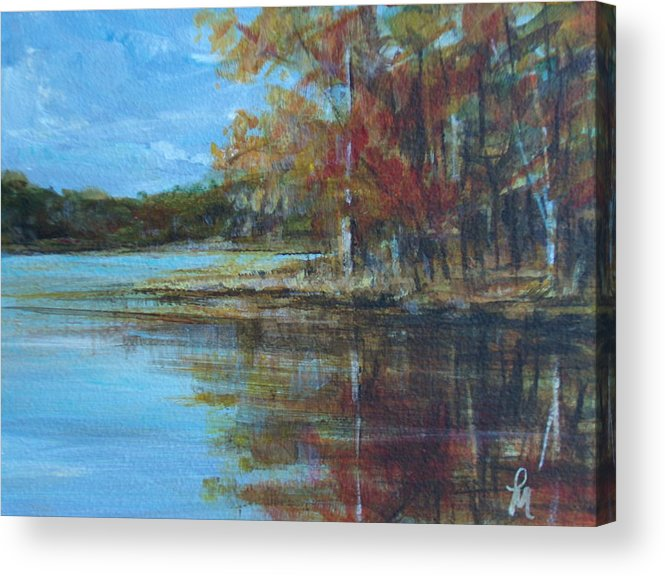 Lakescape Acrylic Print featuring the painting Better Days by Pete Maier