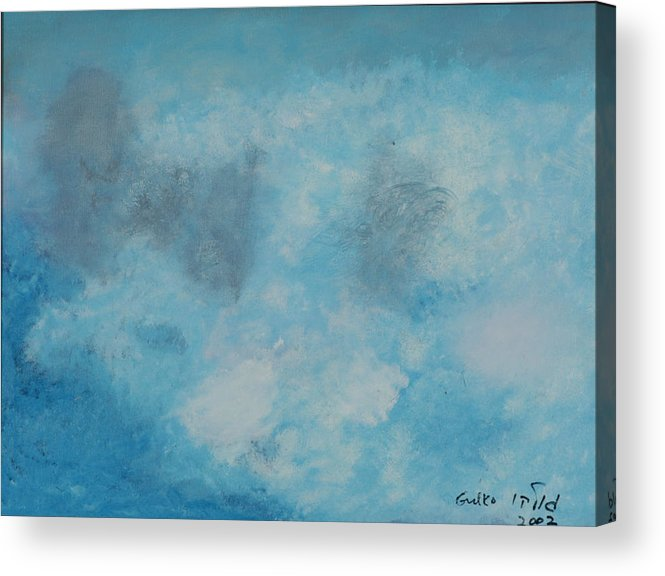 Clouds Acrylic Print featuring the painting Gathering Storm Clouds  by Harris Gulko