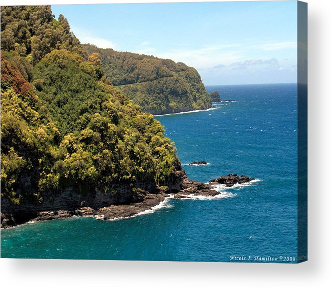 Landscape Acrylic Print featuring the photograph Mountains And Sea by Nicole I Hamilton