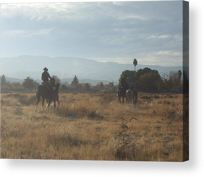Western Acrylic Print featuring the photograph On The Range by Janey Loree