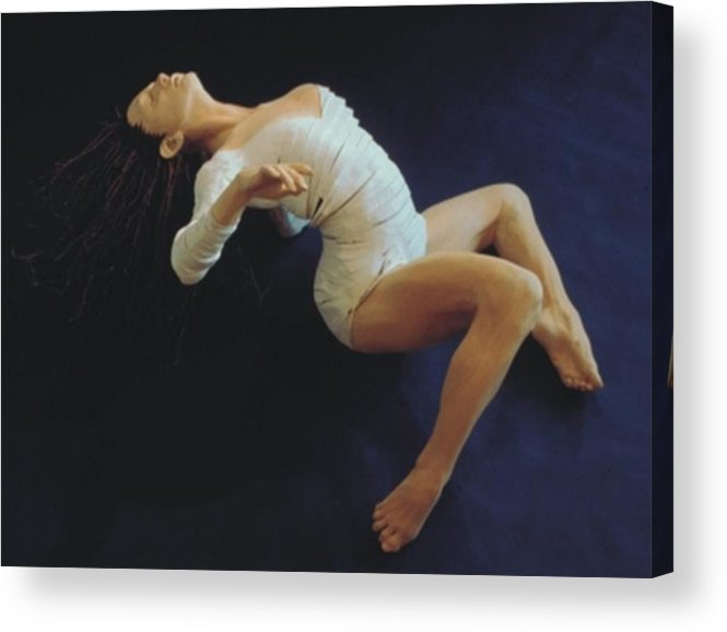 Dance Acrylic Print featuring the sculpture White Dancer Right View by Gordon Becker