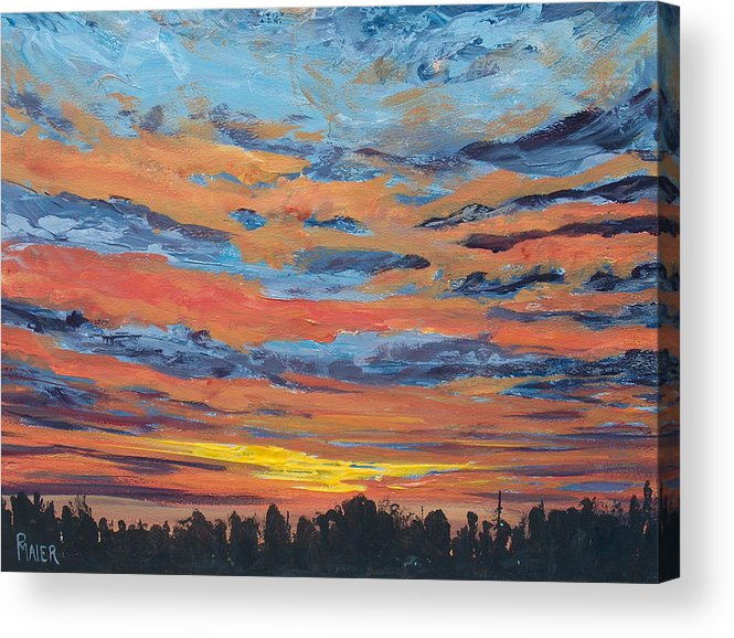 Landscape Acrylic Print featuring the painting Mornin II by Pete Maier