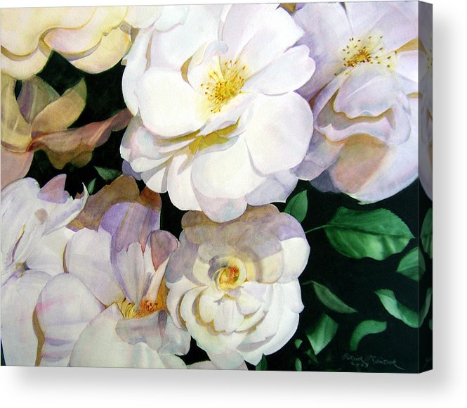 Floral Roses Acrylic Print featuring the painting Big Floral by Patrick McClintock
