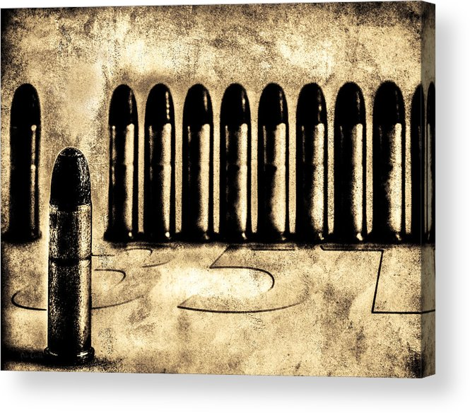 Bullets Acrylic Print featuring the photograph 357 by Bob Orsillo
