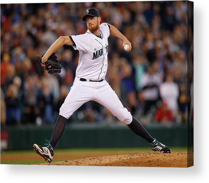 Ninth Inning Acrylic Print featuring the photograph Texas Rangers V Seattle Mariners by Otto Greule Jr