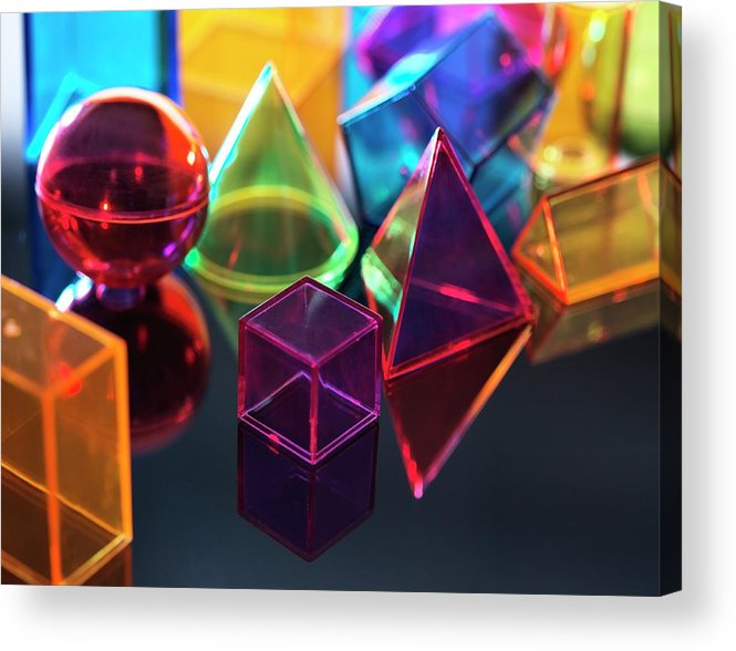 Assortment Acrylic Print featuring the photograph Geometric Shapes by Tek Image