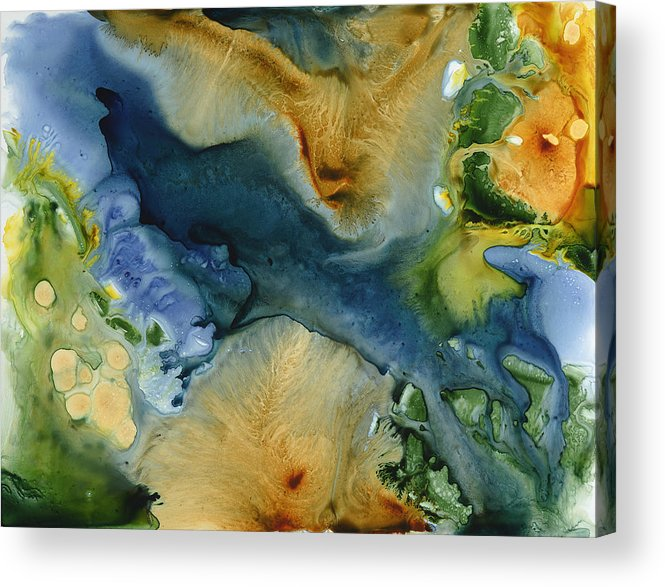Landscape Acrylic Print featuring the painting All Things Must Change by Julia Graf