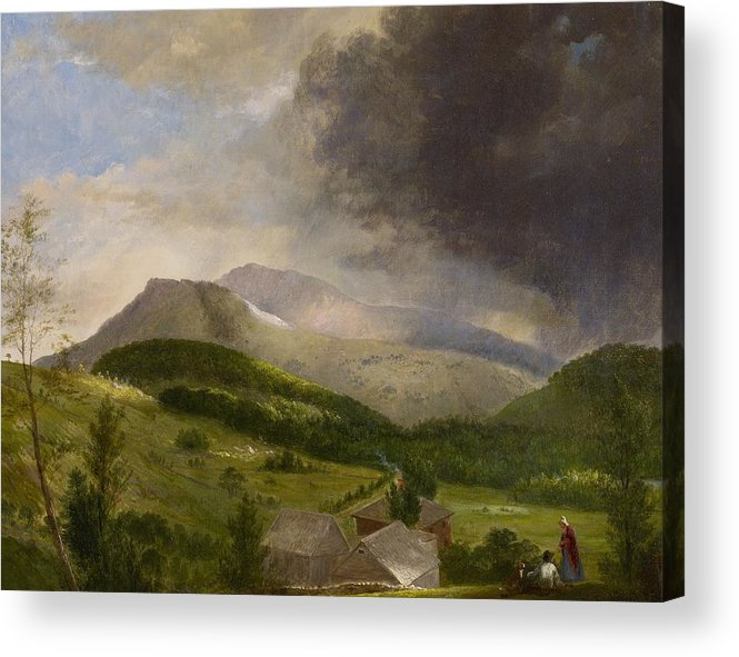 Couple Acrylic Print featuring the painting Approaching Storm White Mountains by Alvan Fisher