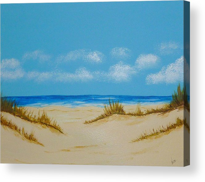 Beach Acrylic Print featuring the painting Beach I by Nancy Nuce