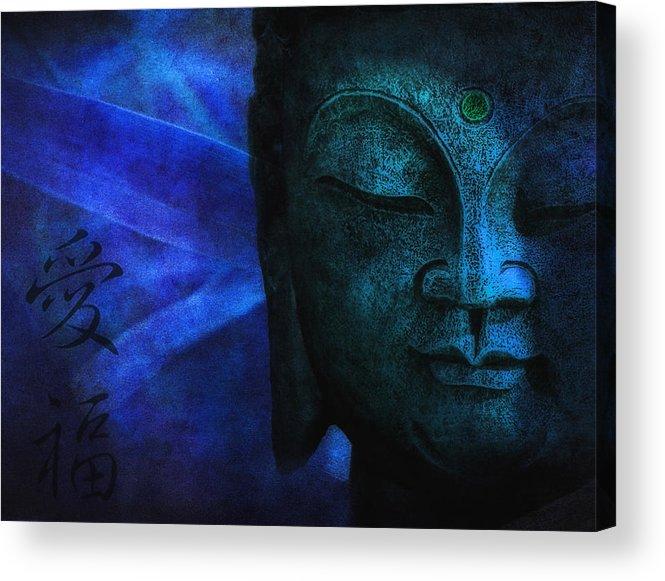 Buddha Acrylic Print featuring the photograph Blue Balance by Joachim G Pinkawa