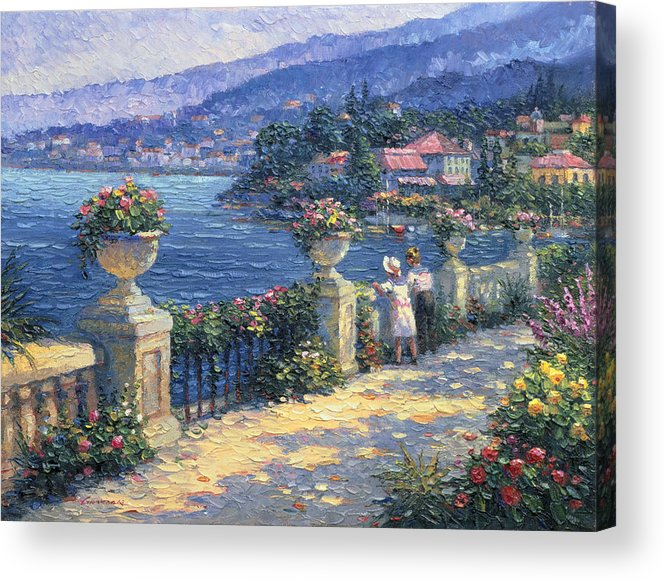 Woman Acrylic Print featuring the painting Captivating Charm by Ghambaro