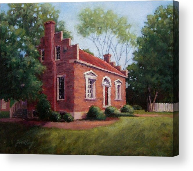 Carter House Acrylic Print featuring the painting Carter House In Franklin Tennessee by Janet King