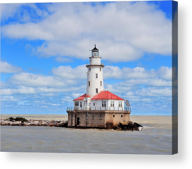 Chicago Acrylic Print featuring the photograph Chicago Light House by Songquan Deng