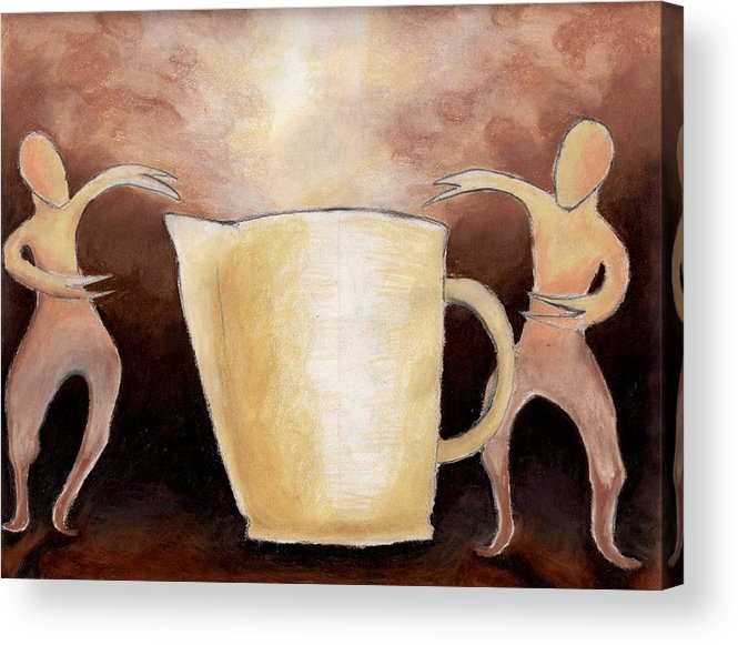 Cup Acrylic Print featuring the drawing Creator Of The Coffee by Keith Gruis