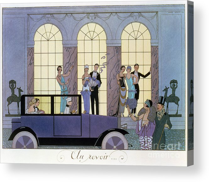 Print Acrylic Print featuring the painting Farewell by Georges Barbier