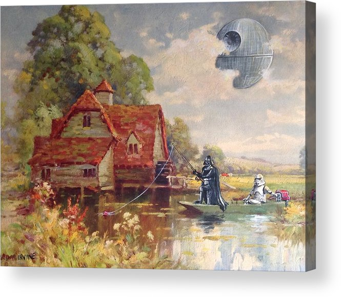 Star Wars Acrylic Print featuring the painting Friday Afternoon by David Irvine