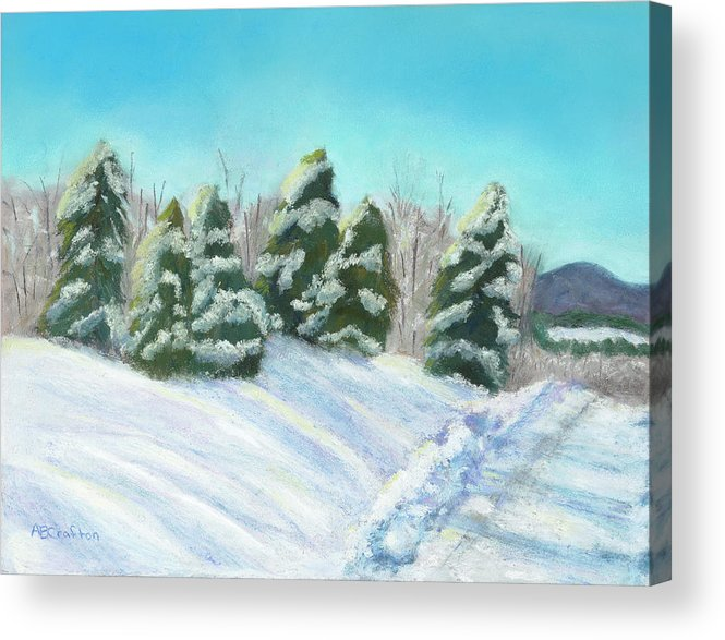 Snow Acrylic Print featuring the painting Frozen Sunshine by Arlene Crafton