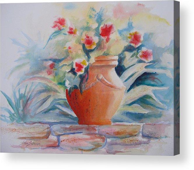John Svenson Acrylic Print featuring the painting Garden Presentation by John Svenson