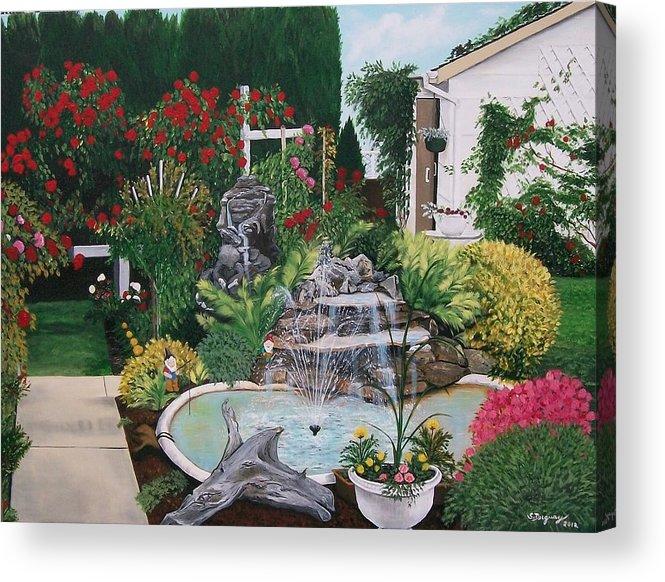 Landscape Acrylic Print featuring the painting Gladys Serenity by Sharon Duguay