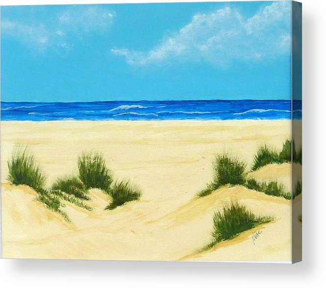 Beach Acrylic Print featuring the painting Gulf Coast Iv by Nancy Nuce