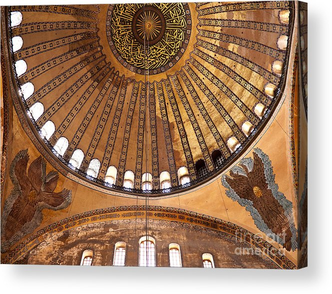 Istanbul Acrylic Print featuring the photograph Hagia Sophia Dome 02 by Rick Piper Photography