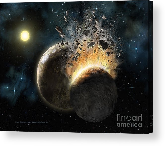 Lynette Cook Acrylic Print featuring the painting Hd 23514 by Lynette Cook