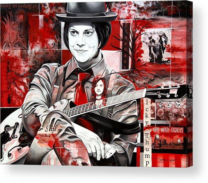 Jack White Acrylic Print featuring the painting Jack White by Joshua Morton
