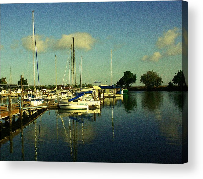 Ladds Marina Acrylic Print featuring the photograph Ladds Marina by Joseph Coulombe
