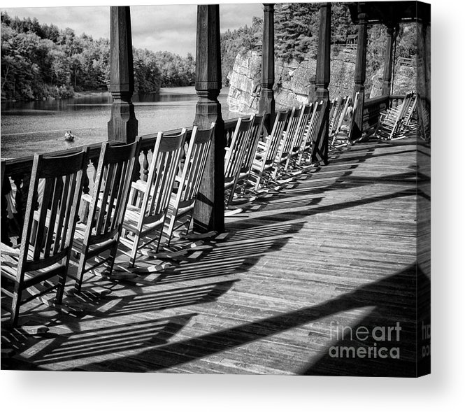 Porch Acrylic Print featuring the photograph Lake View by Claudia Kuhn