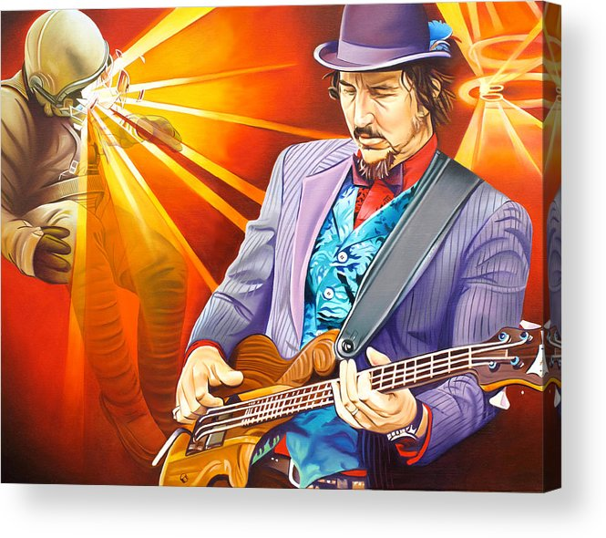 Les Claypool Acrylic Print featuring the painting Les Claypool's-sonic Boom by Joshua Morton