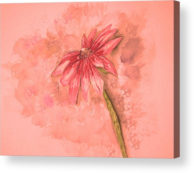 Watercolor Acrylic Print featuring the painting Melancholoy by Crystal Hubbard
