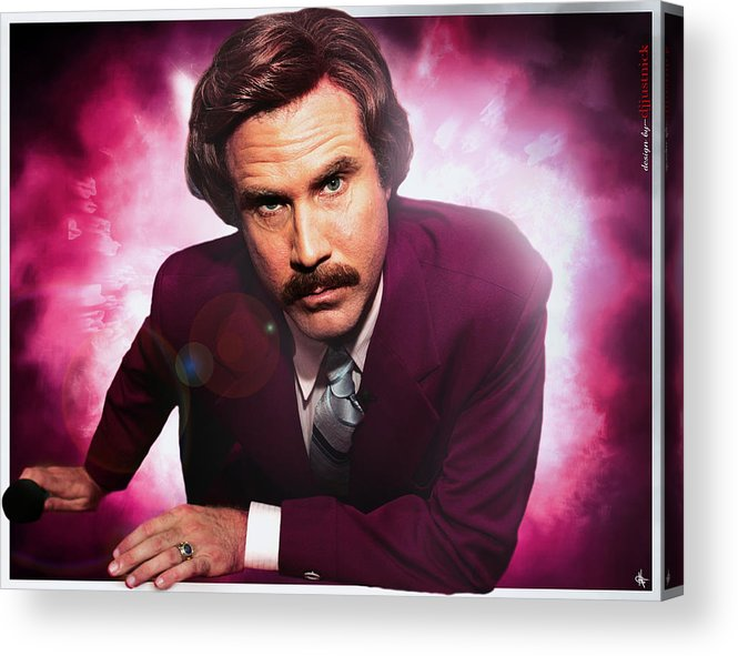 Mr. Ron Burgundy Acrylic Print featuring the photograph Mr. Ron Mr. Ron Burgundy From Anchorman by Nicholas Grunas