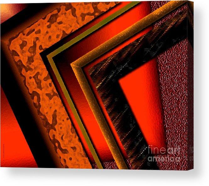 Orange Acrylic Print featuring the digital art Orange And Brown by Mario Perez