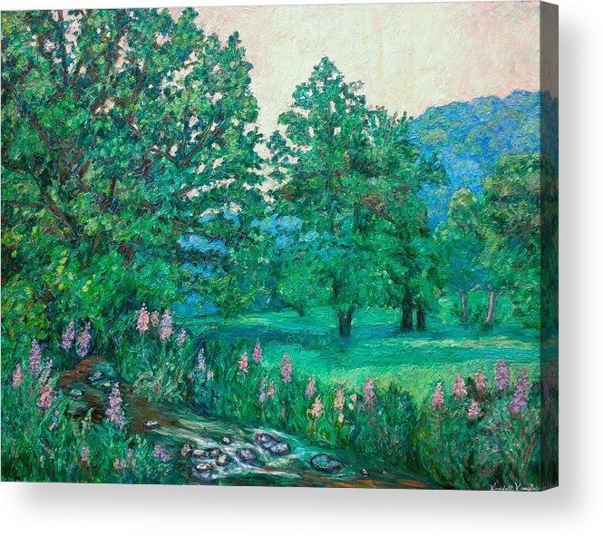 Landscape Acrylic Print featuring the painting Park Road In Radford by Kendall Kessler