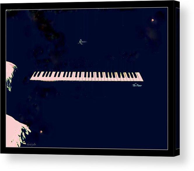 Piano Acrylic Print featuring the mixed media Piano by YoMamaBird Rhonda