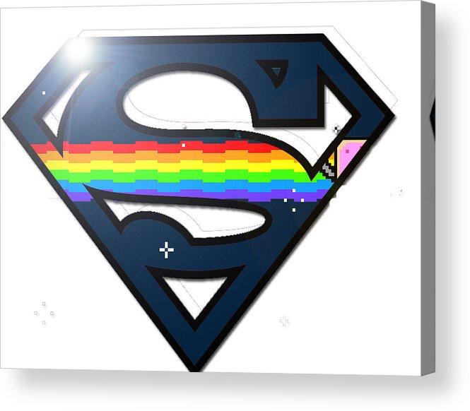 Pixel Art Heroes Acrylic Print