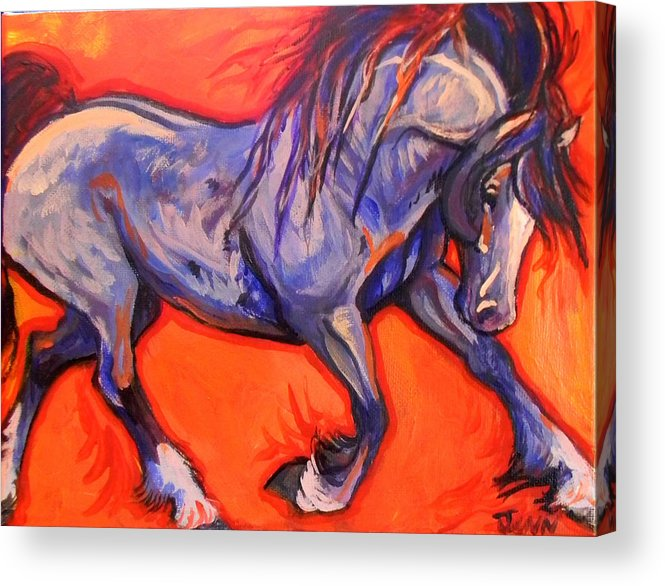 Horse Acrylic Print featuring the painting Pride by Jenn Cunningham