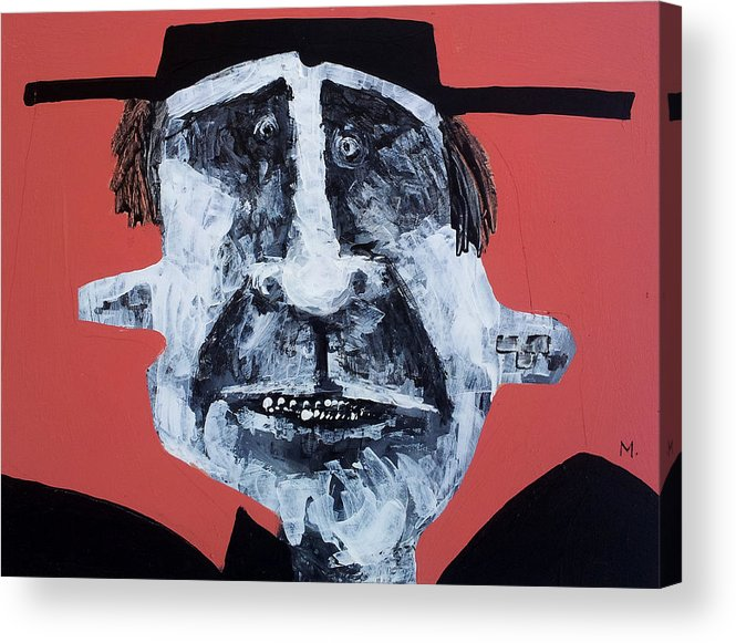 Face Acrylic Print featuring the painting Protesto No. 12 by Mark M Mellon