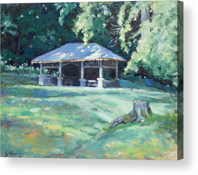 Frist Shelter Acrylic Print featuring the painting Quiet Resting Place by Sandra Harris
