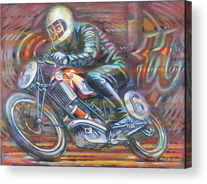 Motorcycle Acrylic Print featuring the painting Scott 2 by Mark Howard Jones