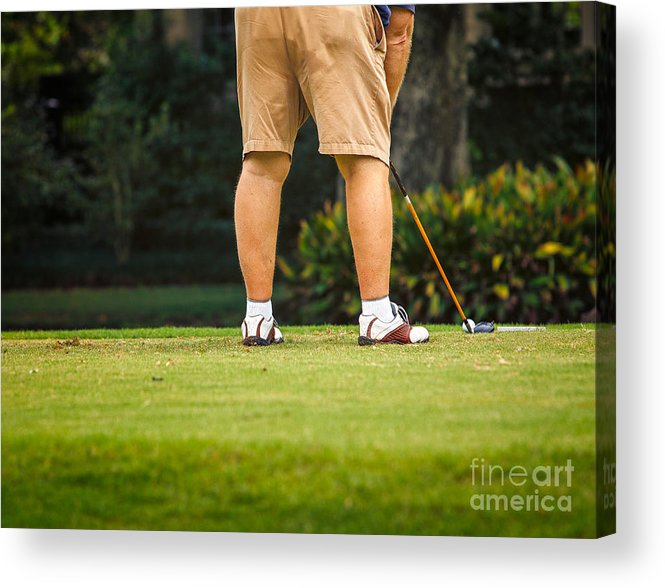 Man Acrylic Print featuring the photograph The Golfer by Mary Smyth