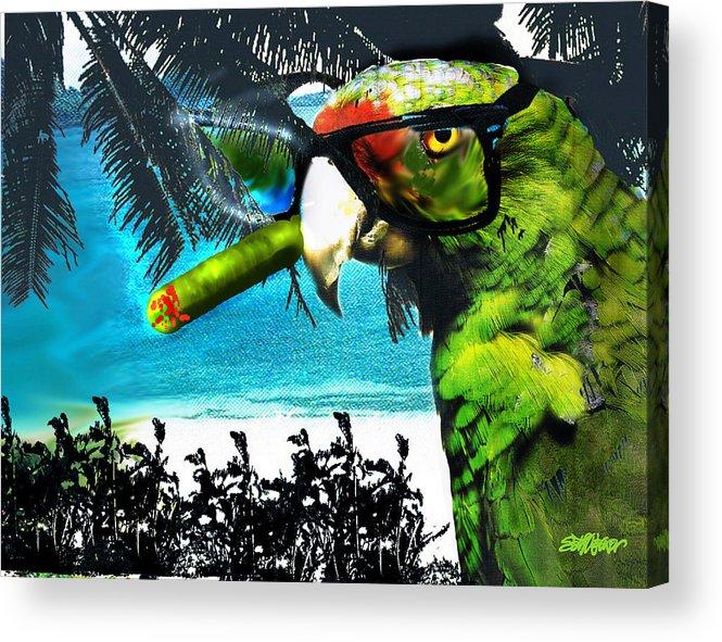 The Great Bird Of Casablanca Acrylic Print featuring the digital art The Great Bird Of Casablanca by Seth Weaver