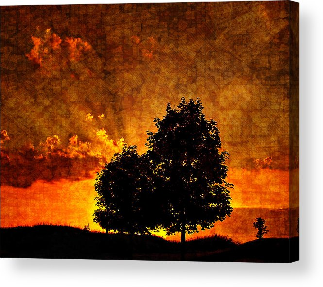 Sunset Acrylic Print featuring the photograph The Promise Overlay Version by Steve Harrington