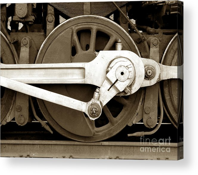 Locomotive Acrylic Print featuring the photograph Wheel Power by Olivier Le Queinec