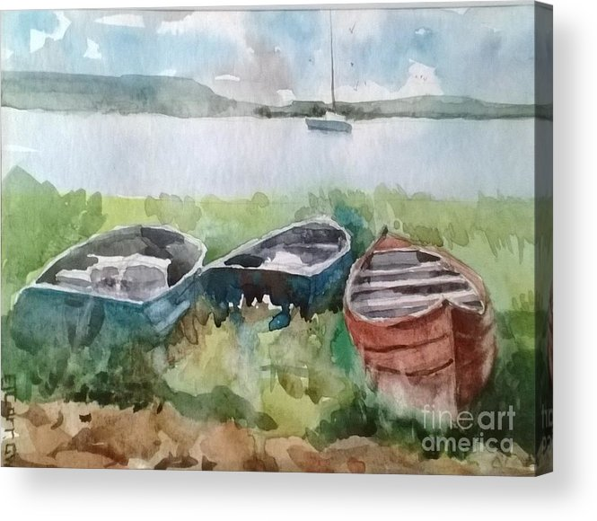 Landscape Acrylic Print featuring the painting Wishing And Hoping by Elizabeth Carr