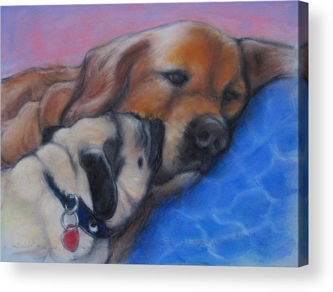 Acrylic Print featuring the painting Ricky And Trooper by Carlos Morales