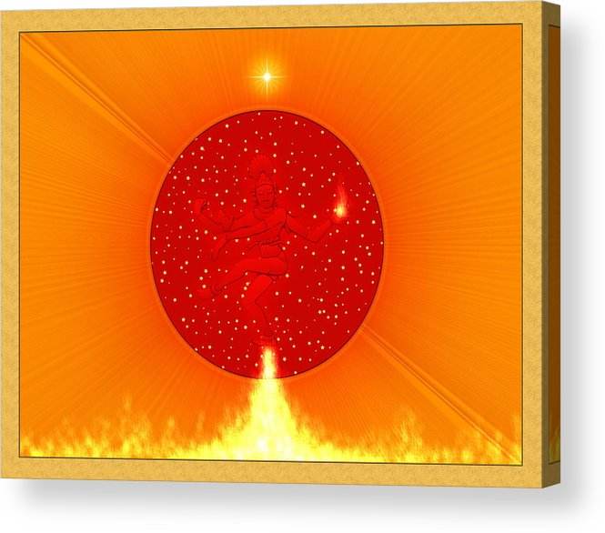 Symbolic Art Acrylic Print featuring the digital art Shiva Nataraja by Harald Dastis