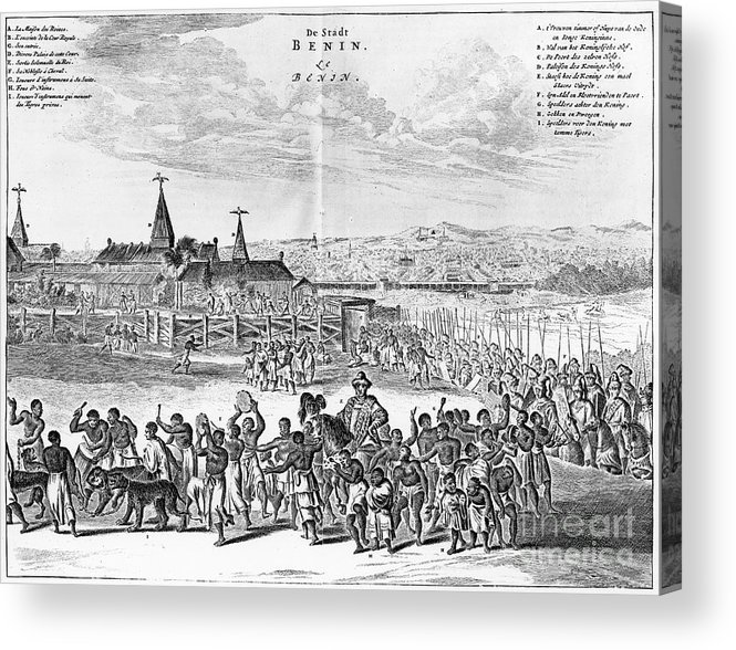 1686 Acrylic Print featuring the photograph Africa: Benin City, 1686 by Granger
